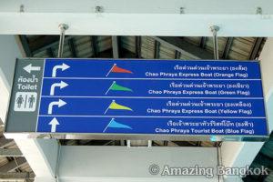サトーン船着き場への行き方 案内板