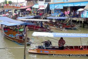 バンコクのオプショナルツアーの紹介 アムパワー水上マーケット