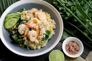 タイで食べたいエビ料理 カーオ・パット・クン